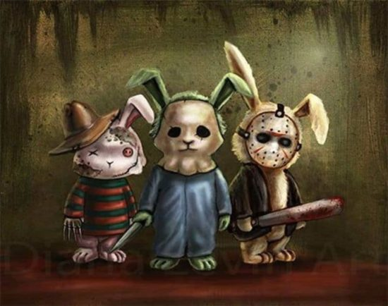 Happy Easter Horror Bunnies