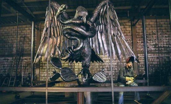 Die beeindruckenden Metallskulpturen von David Madero