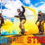 Med Skateboards og røgbomber ved San Francisco i 4k