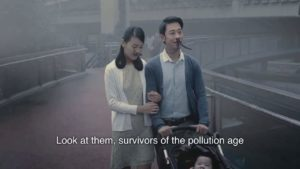 Kæmpe næse hår mod luftforurening