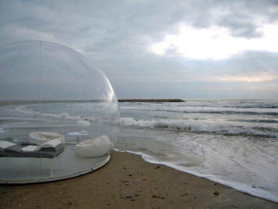 Sleeping in a bubble