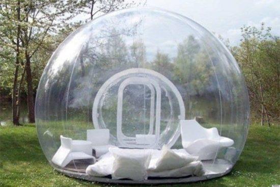 Sova i en bubbla