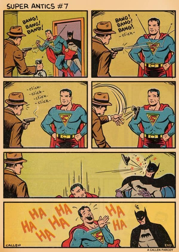 Superman is een sucker