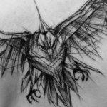 Getatoeëerd Doodle van Inez Janiak
