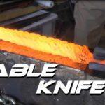 Wie man aus einem Stahlseil ein Messer macht