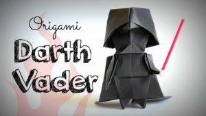 Hoe maak je een origami vouwen Darth Vader