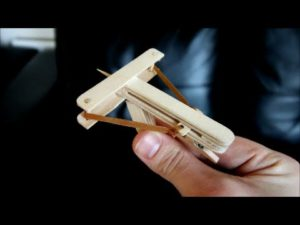 How tinkering a mini-crossbow