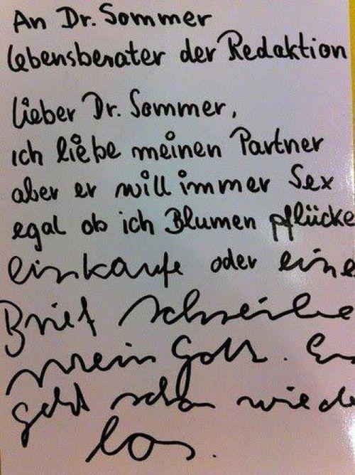 Lieber Dr. Sommer...