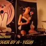 "Girl in sexy lingerie delivers explosive drum cover of Metallica ""Enter Sandman"""