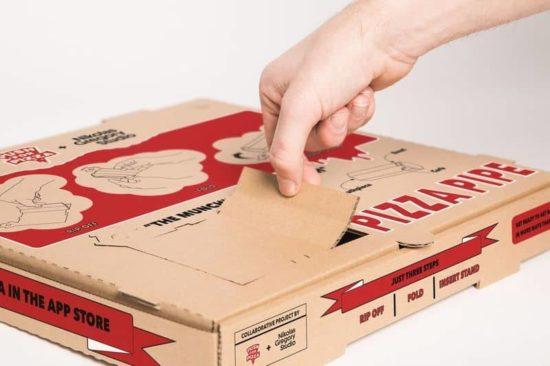 Hash Rör från en pizza box