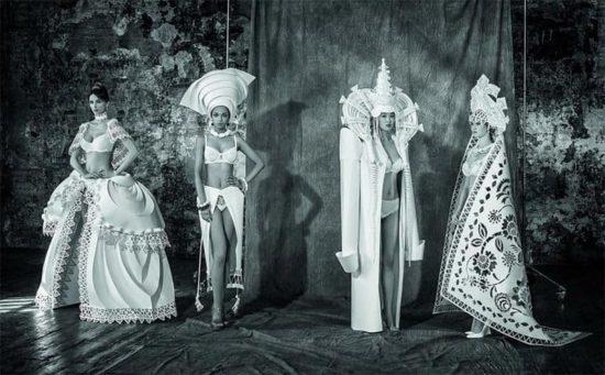 Hochzeitskleider aus Papier