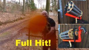 Ping Pong Hailstorm: Grote volledig automatische Gatling Gun Schleuder