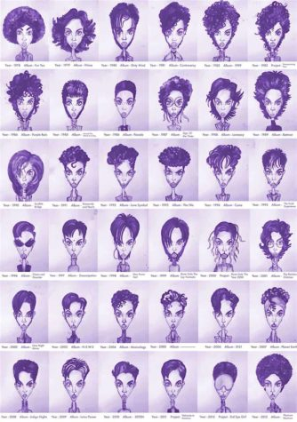 Prince's Hair Styles from 1978 till 2013