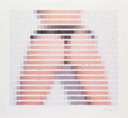 Pixelated Pantone portraits of sexy ladies