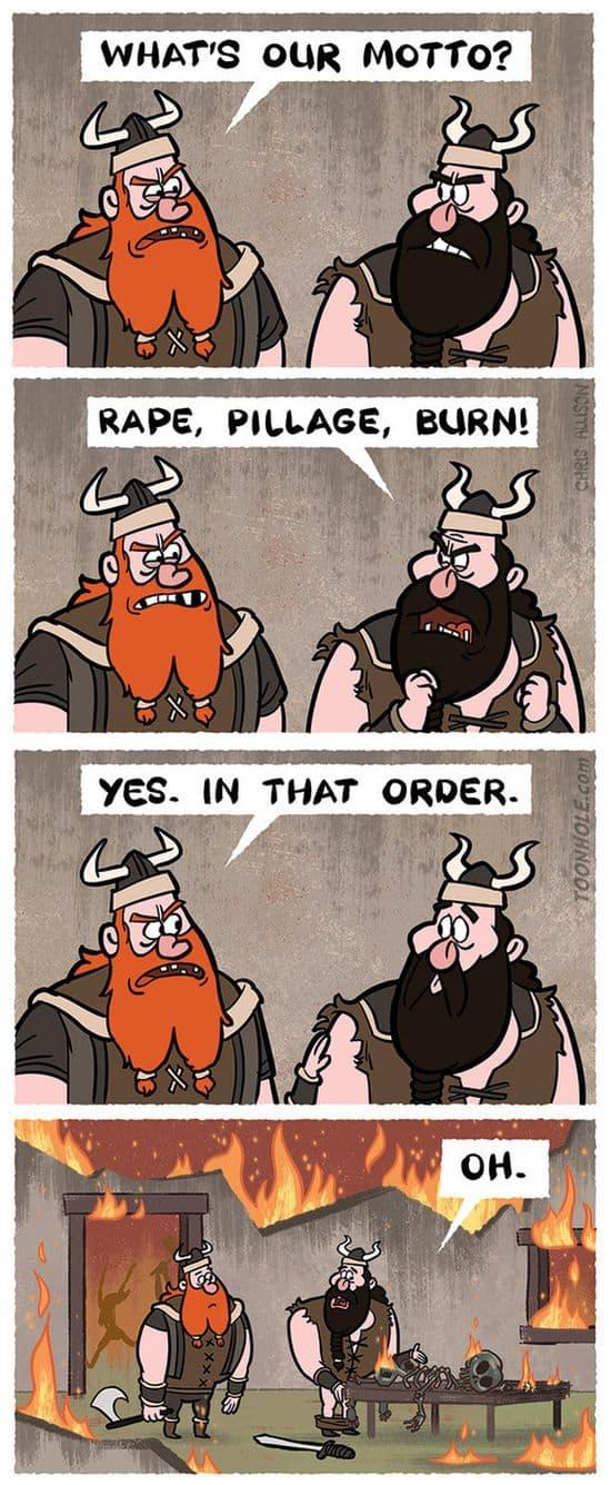 Um dia na vida de um Viking