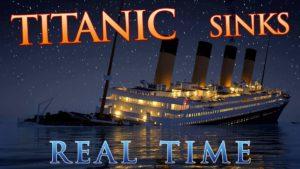 Wie die Titanic in Echtzeit versinkt