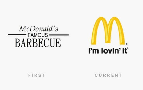 50 known logos then and now