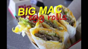 Big Mac Egg Rolls