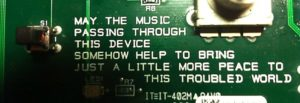 Recently, on a circuit board of a guitar effect device