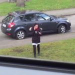 It Follows: Squirrel pursued Selfie woman
