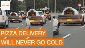 Recientemente en Australia: La quema de horno de la pizza en la carretera