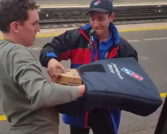 Pizza Delivery in the train