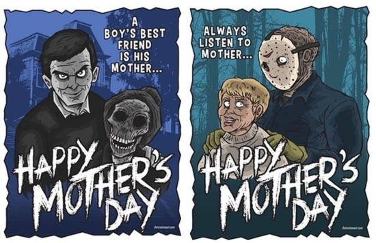 Norman Bates and Jason Voorhees wish Happy Mother's Day