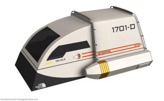 """Ein Zelt wie ein """"Star Trek""""-Shuttle"""