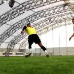 Unusual football tricks at top speed