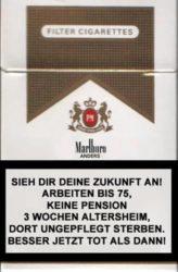 Neulich auf der Zigarettenpackung