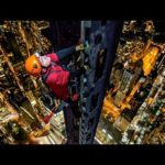 PÃ¥ toppen af ​​One World Trade Center, blev sat til 360 °