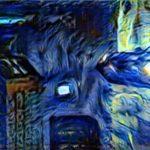 Blade-Runner im van Gogh stil
