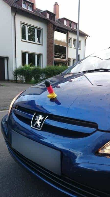 Germany dildo on bonnet