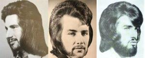 Como os homens ainda eram bonitos: Sr. penteados dos anos 70