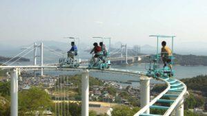 En Japón existe una montaña de pedal y conducido a pedales