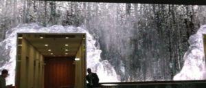 Wasserfall in der Lobby