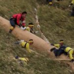 Onbashira Matsuri: When sliding down a slope in Japan on giant tree trunks
