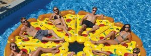 Pizza airbed
