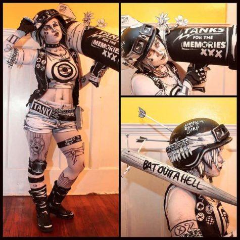 Schwarzweiss Tank Girl Comic Cosplay