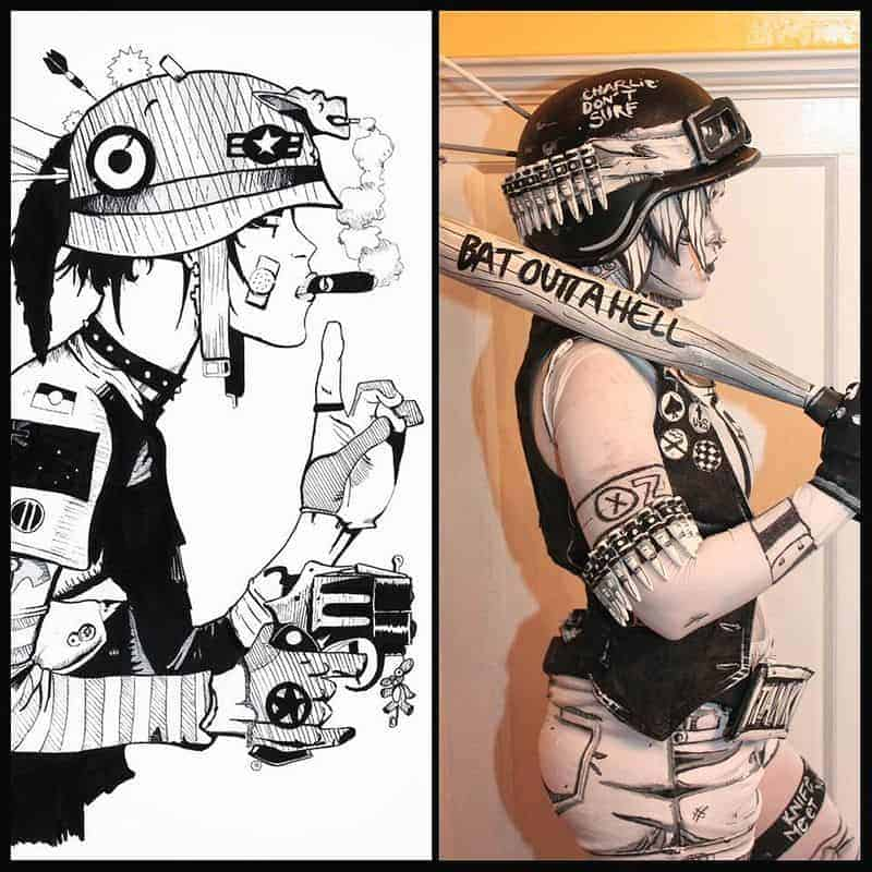 Schwarzweiss Tank Girl Comic Cosplay Dravens Tales From The Crypt Adorable Tank Girl Quotes