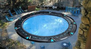Stargate pool in the garden