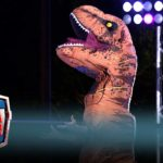 T. Rex bei Amerykański wojownik ninja