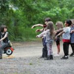 "Kids scènes uit ""The Walking Dead"" Na"