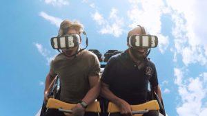 Virtual Reality Achterbahnfahren beim Achterbahnfahren