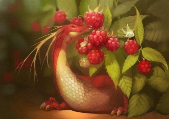 Fruit Dragons der russischen Künstlerin Alexandra Khitrova