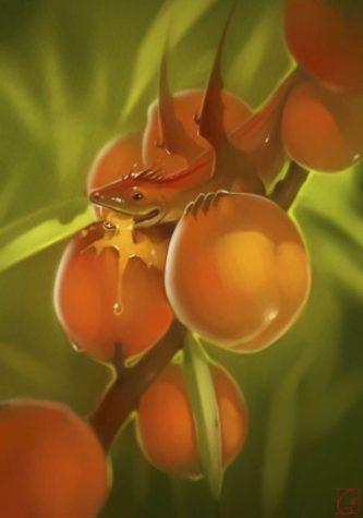 Fruit Dragons door Russische kunstenaar Alexandra Khitrova