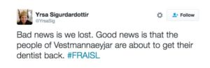 Islands EM-Aus: Eine schlechte und eine gute Nachricht