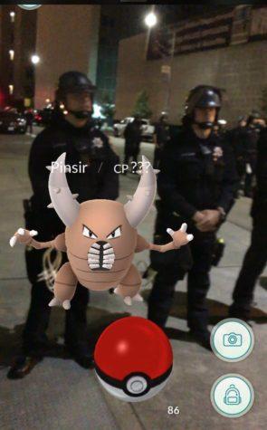 Pokémon antidisturbios de la Policía