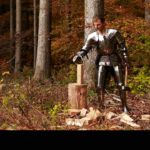 Test of freedom of movement in a knight's armor
