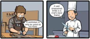 Un mal artesano siempre regaña a sus herramientas